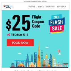 [Zuji] BQ.sg: Flash Sale - Additional $25 OFF flights