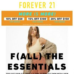[FOREVER 21] The Fall Essentials Checklist