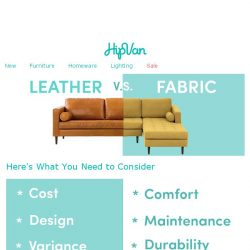 [HipVan] 6 -Step Guide To Choose Between Leather & Fabric