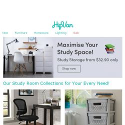 [HipVan] Study Storage from just $32.90 Only!
