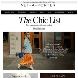 [NET-A-PORTER] Try this new color power pairing
