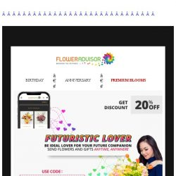 """[Floweradvisor] Discount 20% for you who brave enough to say """"I want you to be my future"""""""