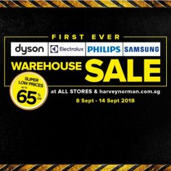 Harvey Norman: First Ever Warehouse Sale on Dyson, Electrolux, Philips & Samsung with Up to 65% OFF
