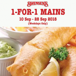 Swensen's: Enjoy 1-for-1 Mains on Weekdays!