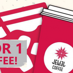 Jewel Coffee: Get 1-for-1 Coffee from 3pm Onwards!