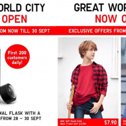 Uniqlo: Enjoy Opening Specials at Great World City & Online this Weekend!