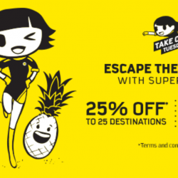 Scoot: Take Off Tuesday Sale with 25 destinations at 25% OFF!