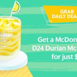 Grab: Get a McDonald's® D24 Durian McFlurry® for ONLY $1! (UP $3.10)