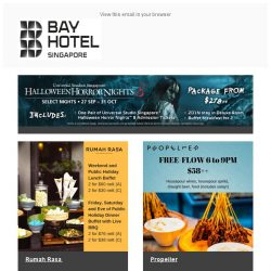 [Bay Hotel] October Delights at Bay