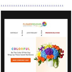 [Floweradvisor] As blue as the sky, as beautiful as a rainbow. Send out our colorful blooms!