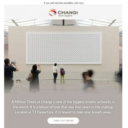 [Changi Airport] What stands over 3m tall and has more than 500 faces?