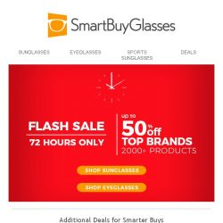 [SmartBuyGlasses] It's Flash Sale Time! Shop Now. Save Big