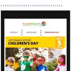 [Floweradvisor] 3 Days to Children's Day. Time to send cake for your little one!