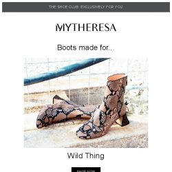 [mytheresa] 👢Shoe Club exclusive: these boots are made for...