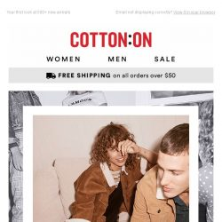 [Cotton On] NOTHING BEATS NEW