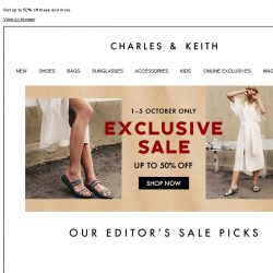 [Charles & Keith] Our top 6 sale must-haves