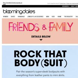 [Bloomingdales] It's all about the bodysuit