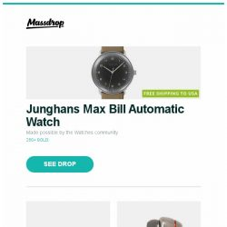 [Massdrop] Junghans Max Bill Automatic Watch, Onkyo RZ630/730/830 Dolby Atmos/DTS:X Receivers, 1MORE Quad Driver IEMs and more...