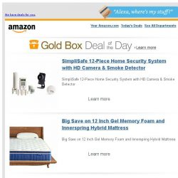[Amazon] SimpliSafe 12-Piece Home Security System with...