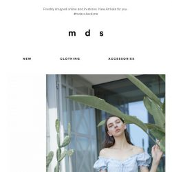 [MDS] It's here online and in-stores! | Most Wanted New-Arrivals