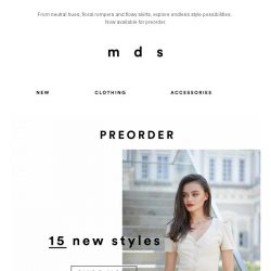 [MDS] Now it's time for NEW | Preorder fresh drops now