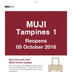 [Muji] 5 October: MUJI Tampines 1 Reopens at Twice its Original Size!