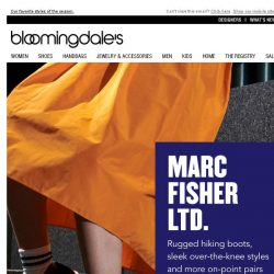 [Bloomingdales] Must-have boots from Marc Fisher LTD. & more