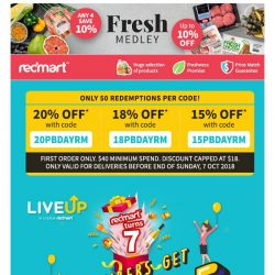 [Redmart] 😱FULLY REDEEMED? More coupons added today!