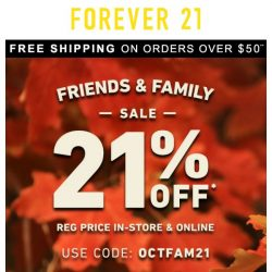 [FOREVER 21] OPEN UP FOR 21% OFF!
