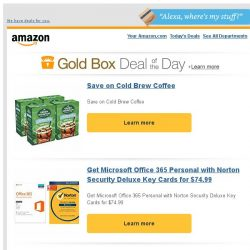 [Amazon] Save on Cold Brew Coffee
