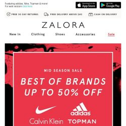 [Zalora] Best of Brands: Up to 50% off!