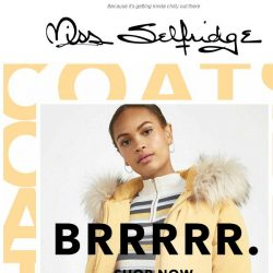 [Miss Selfridge] The best coats you need in your basket ❄️