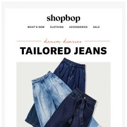 [Shopbop] 3 ways to wear tailored jeans