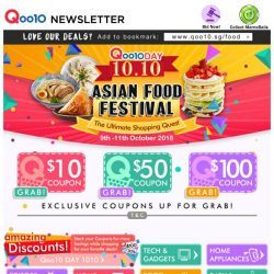 [Qoo10] Enjoy Asian Food Festival! $1.10 Mr Bean Soya Drink, Swatow Platter, Durian Cakes and More!