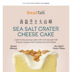 [BreadTalk] Continuous Craving on Crater Cake ????
