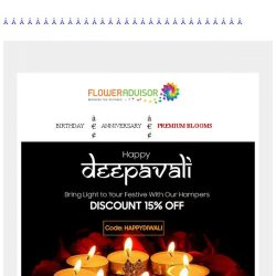 [Floweradvisor] Use code: HAPPYDIWALI to grab your special 15% off. See the products here!