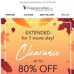[FragranceNet] EXTENDED - Clearance starting at $2.99