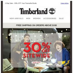 [Timberland] 10.10 SALE | 2-DAY ONLINE EXCLUSIVE ONLY.