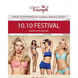 [Triumph] SG: 10.10 Festival You Do Not Want To Miss!