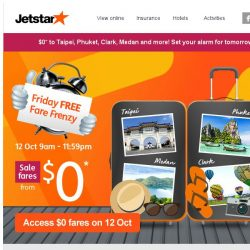 [Jetstar] 🔑 Unlock your $0* sale fare to 4 other destinations this week!