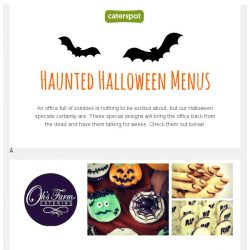 [CaterSpot] Haunted Halloween Menus