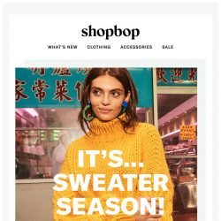 [Shopbop] Take notes…our fall knit guide is here