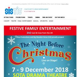 [SISTIC] Share the magic of Christmas and save 10%: BOOK NOW