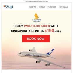 [Zuji] BQ.sg: Singapore Airlines on Sale!