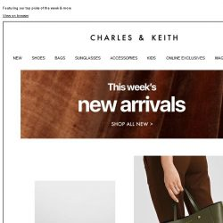 [Charles & Keith] New In This Week