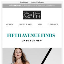 [Saks OFF 5th] Fifth Avenue Finds from Jimmy Choo, Giuseppe Zanotti & MORE!