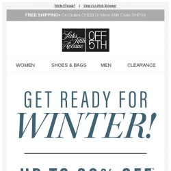 [Saks OFF 5th] It's getting colder: Warm up with Soia & Kyo and Saks Fifth Avenue