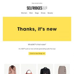 [Selfridges & Co] So, what's on our radar this week?