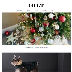 [Gilt] The Holiday Tree & Trim Shop is open for the season.