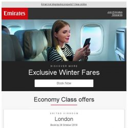 [Emirates] Treat yourself a winter holiday from SGD 1,169 return